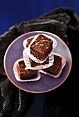 Mendiant-style brownies