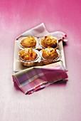 Muffins mit Orange und kandiertem Ingwer