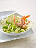 Celeriac, Green Apple and Shrimp Salad