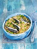 Rice with sardines