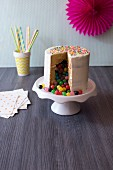 A birthday surprise filled with coloured sweets