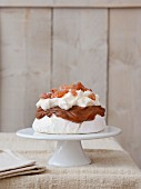 Chestnut cream and and candied chestnut crumb Pavlova