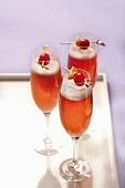 Glasses of Kir Royal