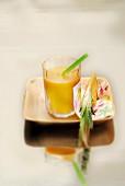 Mango,pineapple and orange smoothie