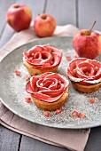 Rose-shaped apple tartlets