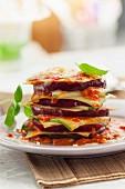 Eggplant and zucchini lasagnes