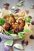Fried artichokes with parsley and lemon