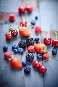 Assortment of summer berries