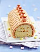 Orange log cake