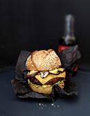 Shiitake mushroom Thai burger