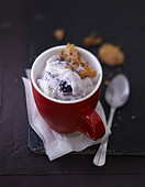 Ricotta-blueberry ice cream