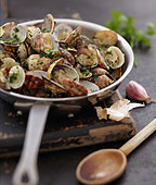 Littleneck clams sautéed with parsley and garlic
