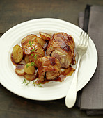 Saltimbocca with marsala and sautéed potatoes