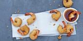Garnelen-Beignets mit Zitronengras und süss-saurer Sauce