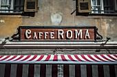 Coffee shop sign in Italian