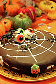 Halloween Squash Cake with Chocolate Topping