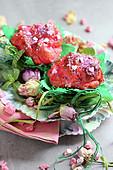 Praline and rose buns