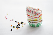 Paper cups for cupcakes