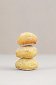 Stack of bread buns