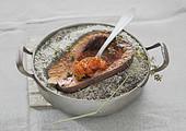 Butternut squash baked in salt crust