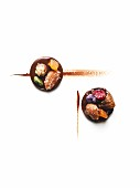 Dried fruit and chocolate Mendiants