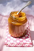 Pot of salted butter toffee spread