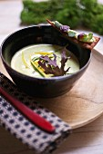 Cream of zucchini soup with cumin