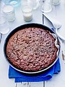 Cocoa, carob and coconut cake