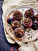 Stuffed red onions