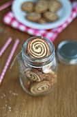 Chocolate and coconut marble biscuits