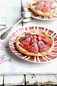 Individual strawberry tart