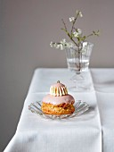 Rose-flavored Religieuse