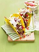 Tacos mit Rindfleischfüllung