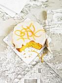 Orange frosted cake
