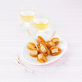 Dried apricot and foie gras bites