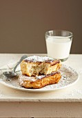 Soft french toast with icing sugar