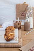 Brioche with chocolate-hazelnut spread
