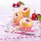 Moist cherry cupcakes