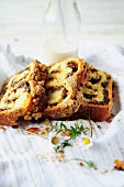 Slices of Babka, Polish chocolate streusel brioche