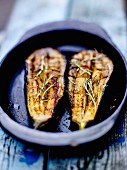Roasted aubergines with rosemary