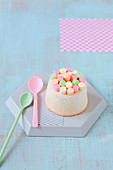 Mini Angel Cake with Marshmallows