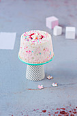Mini Angel Cake with Marshmallows and Sugar Beads