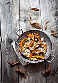 Baked pumpkin with feta
