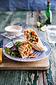 Turkey and vegetable mexican wrap