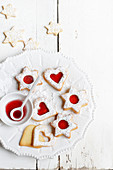 Stained-glass window style Christmas biscuits