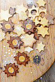 Golden glitter sugar Christmas cookies