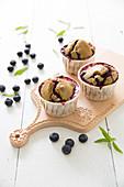 Blaubeer-Matchatee-Muffins