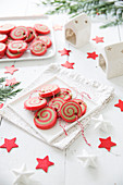Christmas ball spiral shortbreads