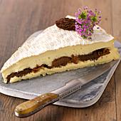 Brie De Meaux Garnished With Morels