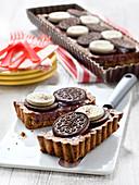 Dark Chocolate And Coconut Oreo Biscuit Tarts